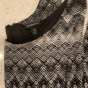 torrid Dresses - Women's black and white chevron dress